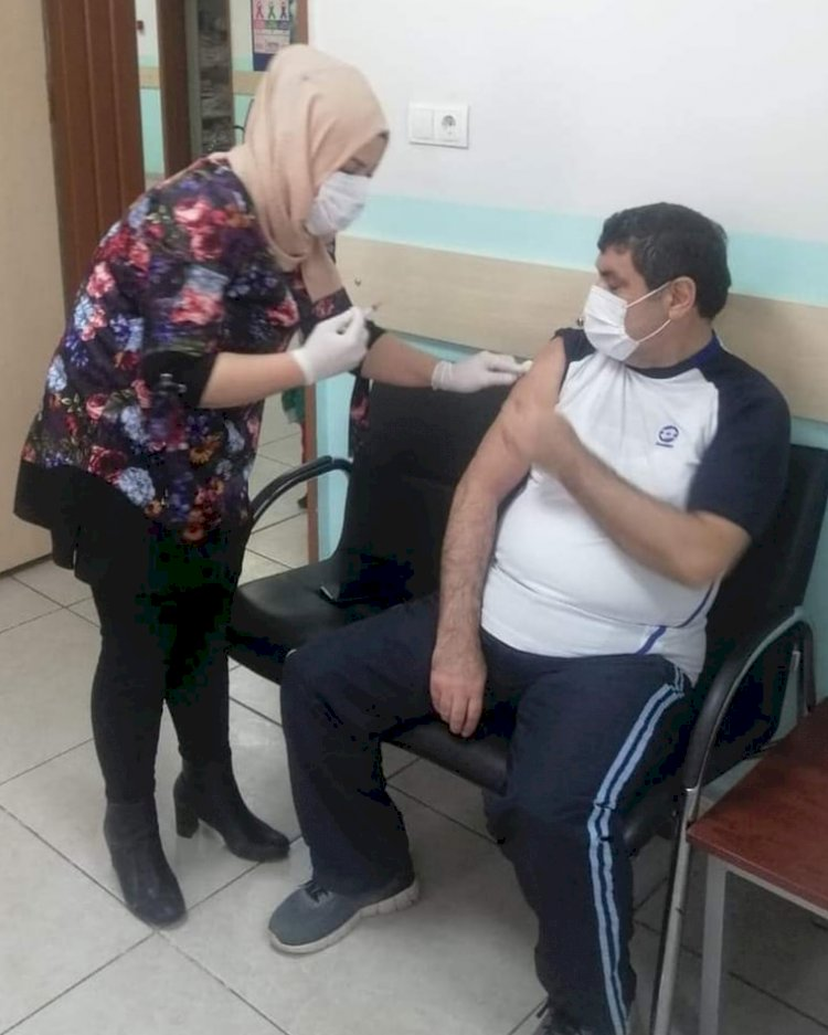 Kaymakam Şahin, Covid 19 aşısı oldu