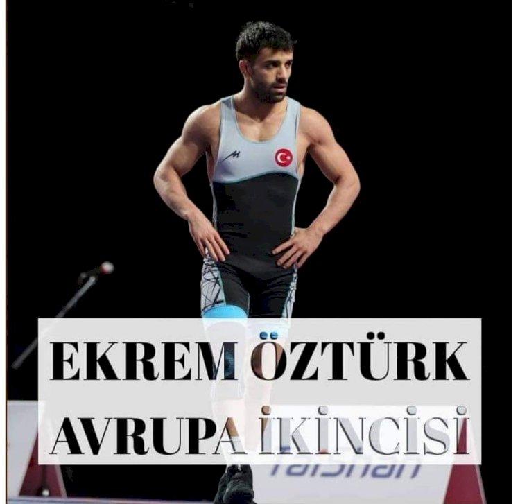 Nizip'li Olan Milli güreşçi Ekrem Öztürk, Avrupa ikincisi oldu